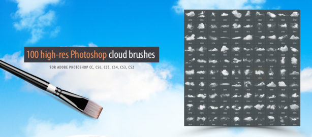My new Photoshop cloud brushes collection is now available for download at Graphic River, for only 8$. You can find it here: Link